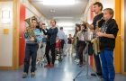 31. Januar 2014: Das Ensemble »Die Sache mit dem Leben« auf Gastspielreise in Tübingen