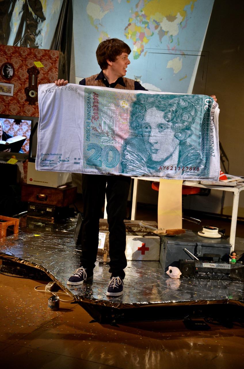 Petra & Achim … und das liebe Geld (Foto: C. Stauch)schau_geld_2